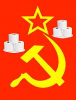 With our weapons of mass destruction - TP guns and medousoid mycellium harpoon guns we shall take over the world for we are the loo roll communism army. Fear us.   Raise your weapons...